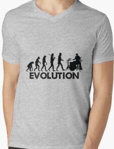Evolution of a Drummer Mens V-Neck T-Shirt