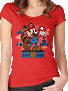 Vintage Mario Women's Fitted Scoop T-Shirt
