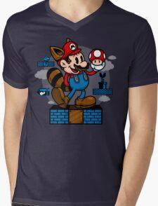 Vintage Mario Mens V-Neck T-Shirt