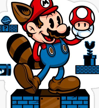 Vintage Mario Sticker