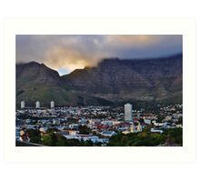 Cape Town, softened Art Print