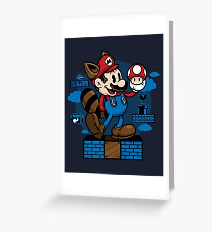 Vintage Mario Greeting Card