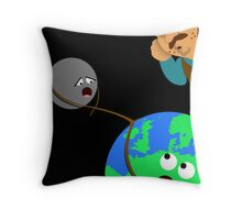 Lunar Accidents Throw Pillow