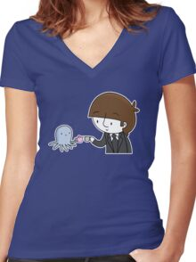 More Tea Version 2  Women's Fitted V-Neck T-Shirt