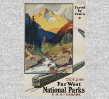 Vintage poster - National parks Baby Tee