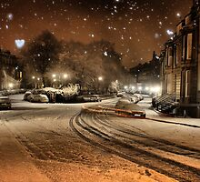 St Bernard's Crescent Winter by Jordan Moffat