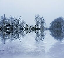Snow Reflections In Dundee. by Forfarlass