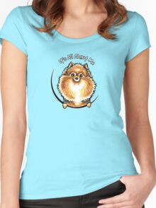 Orange Pomeranian :: Its All About Me Women's Fitted Scoop T-Shirt