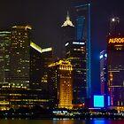 Shanghai by night,skycrapers by FilipMasopust