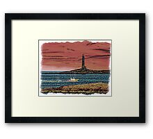 FISHING ON THE CAPE Framed Print