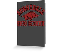 Sunnydale High Razorbacks Greeting Card