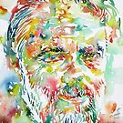 PHILIP K. DICK watercolor portrait.2 by lautir