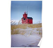 Lighthouse Big Red in Holland Michigan Poster