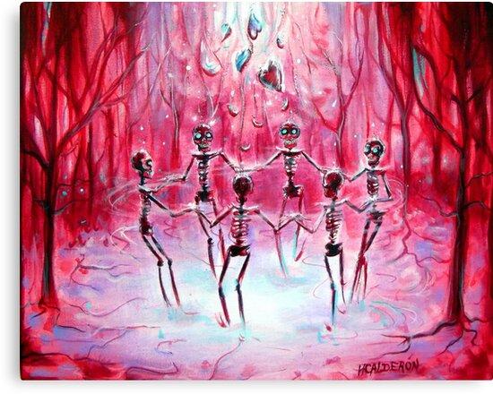 Day of the Dead Skeleton Heart Ring by HCalderonArt