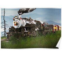 Smokey Mountain Railway Steam Locomotive Poster