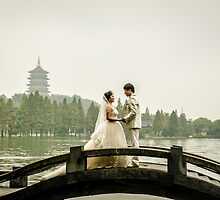 Hangzhou Lake wedding spot photography by FilipMasopust