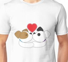 Puppies Kissing Unisex T-Shirt
