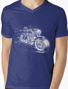 Skeleton Rider Mens V-Neck T-Shirt