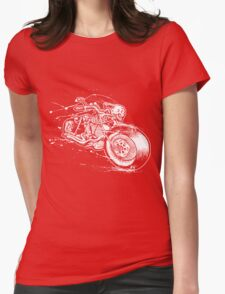 Skeleton Rider Womens Fitted T-Shirt