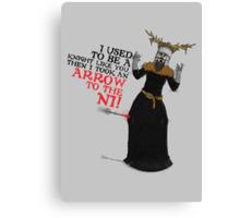 Arrow To The Ni!! Canvas Print