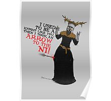 Arrow To The Ni!! Poster