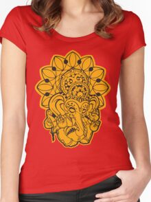 Ganesh (yellow/gold and black) Women's Fitted Scoop T-Shirt
