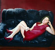 The Lady in Red by C.A. Rowe
