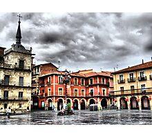 Plaza Mayor of Leon, Spain Photographic Print