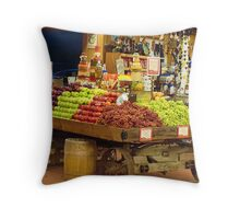"""The Fruited Cart"" Throw Pillow"