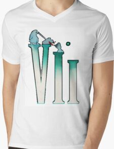 Final Fantasy VII: The Sacrifice Of Cloud - Numbers And Characters Mens V-Neck T-Shirt
