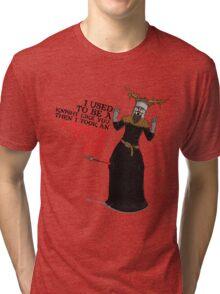 Arrow To The Ni!! Tri-blend T-Shirt