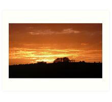 Sunset over the Ouse Valley Art Print