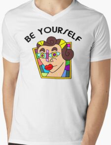 """Funny Women's """"Be Yourself"""" Mens V-Neck T-Shirt"""