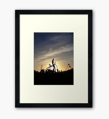 Sun Dragon Framed Print