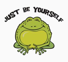 "Funny Frog ""Just Be Yourself"" Kids Tee"