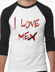 "Women's ""I Love Me"" Men's Baseball ¾ T-Shirt"