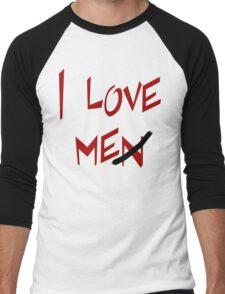 """Women's """"I Love Me"""" Men's Baseball ¾ T-Shirt"""