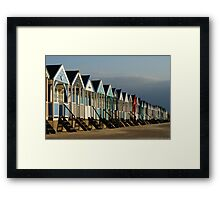 Beach Huts at Southwold Framed Print