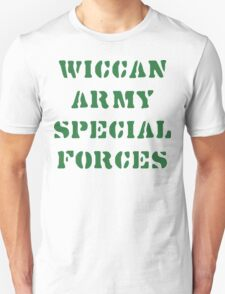 Wiccan Army Special Forces Unisex T-Shirt