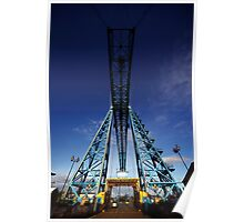 Tees Transporter Bridge, Middlesbrough (NE England) Poster