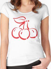 "Women's ""Cherry"" Women's Fitted Scoop T-Shirt"