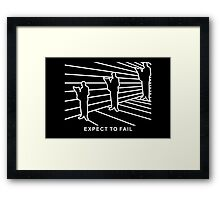 Ames Room - Expect to Fail Framed Print