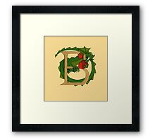 "Oscar and the Roses ""B"" (Illustrated Alphabet) Framed Print"
