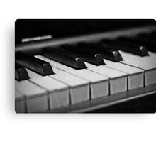 Piano Keys [Black & White] Canvas Print