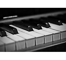 Piano Keys [Black & White] Photographic Print