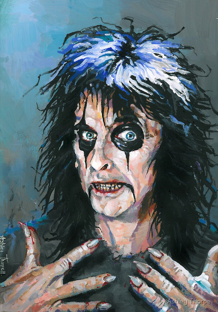 Alice Cooper - Fangoria cover art 307 by Ashley Thorpe