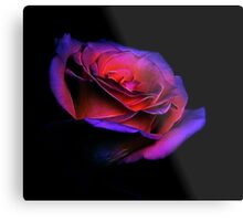 Fractalized manipulated Yellow Rose Metal Print