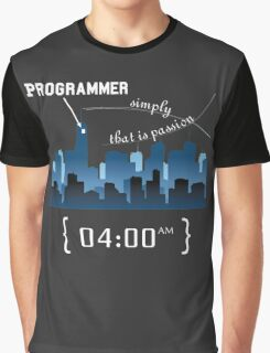 Programmer work at Night Graphic T-Shirt