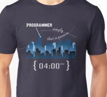Programmer work at Night Unisex T-Shirt