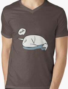 Nahwhal funny nerd geek geeky Mens V-Neck T-Shirt